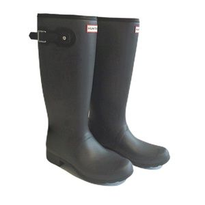 NWT Hunter Dark Gray Matte Tall Rain Boots